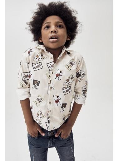 Nebbati Erkek Çocuk Desenli Gömlek 20Fw0Nb3603 Renkli